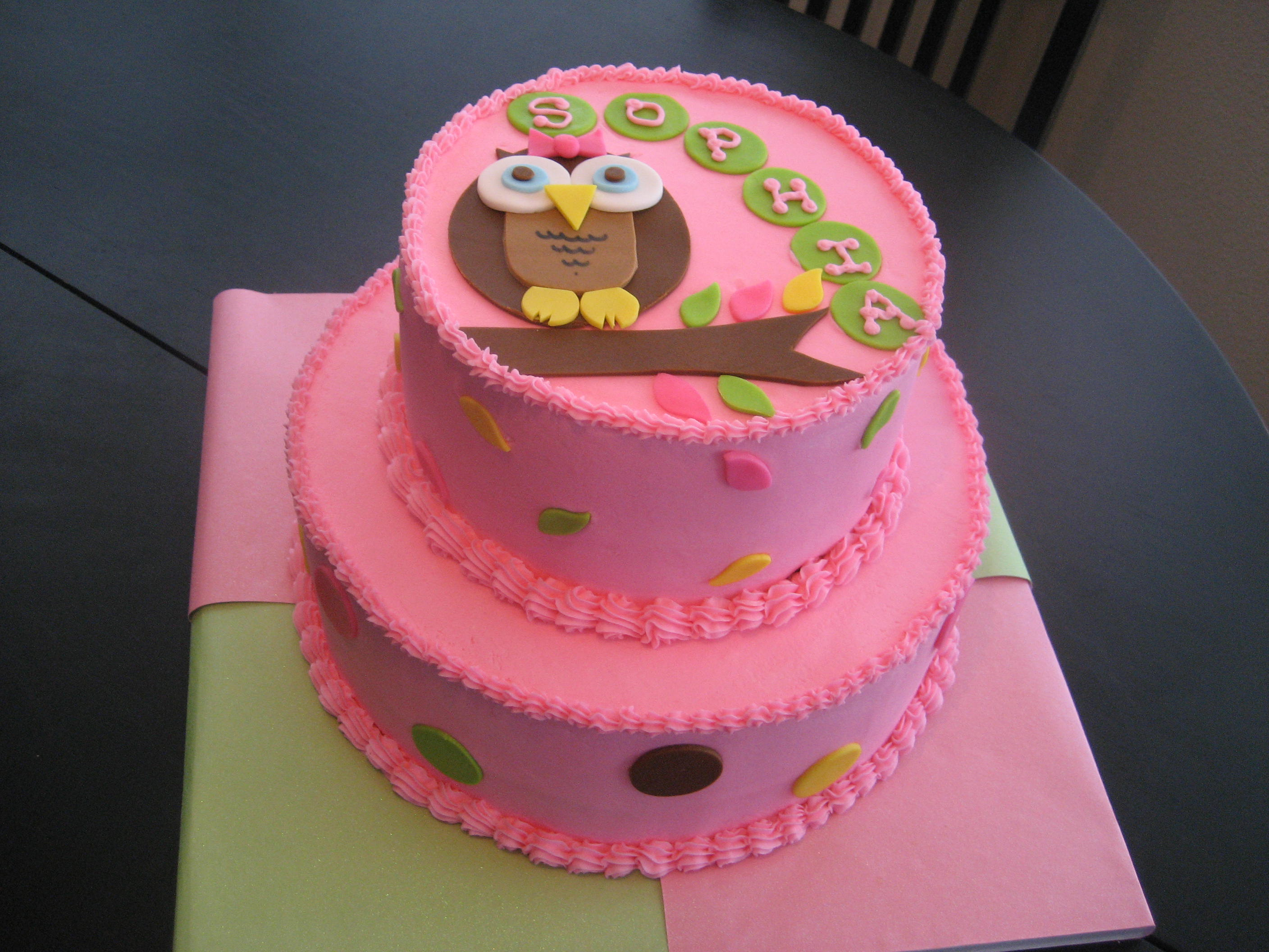 Baby Shower Cakes Made With Buttercream Icing ~ Whooooos having a little girl kimberly s kakery