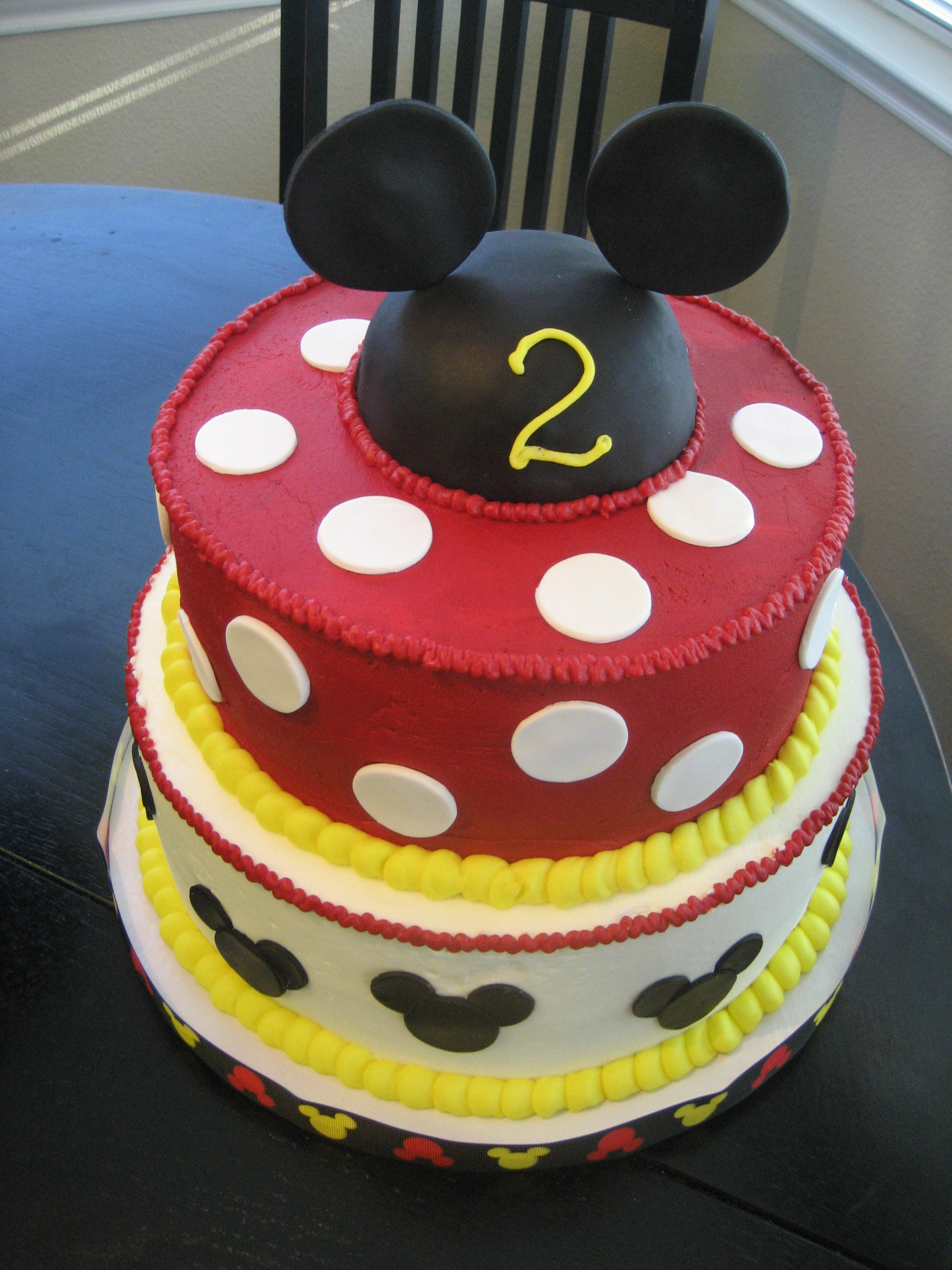 Mickey Mouse Cake Icing Colors